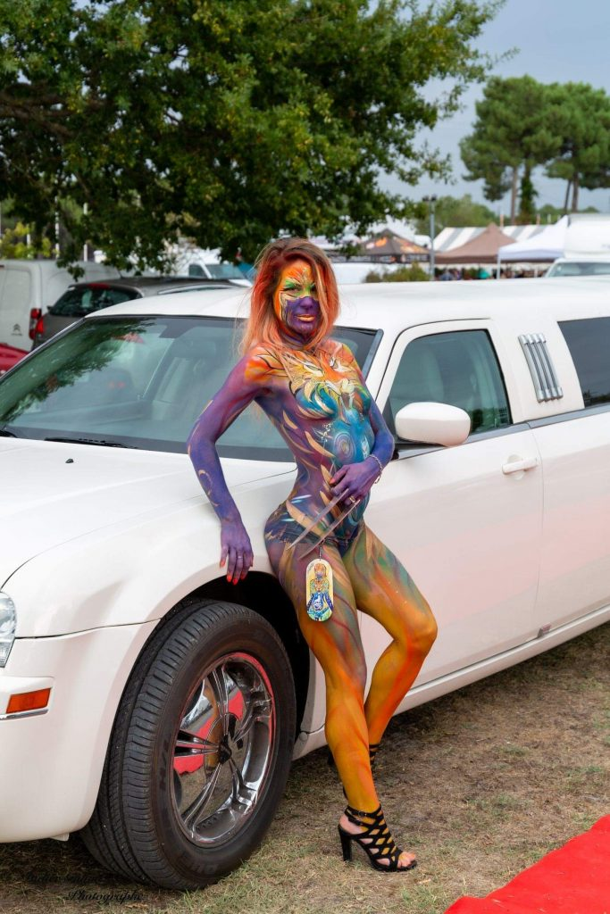 Limousine avec mannequin